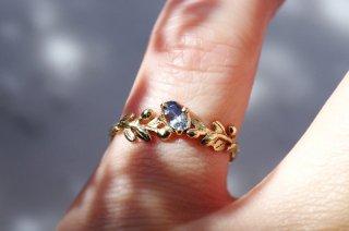Wreath ring バイカラーサファイヤ