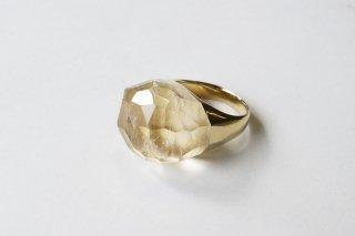 Quartz  Rock Ring (Faceted Round Cut)