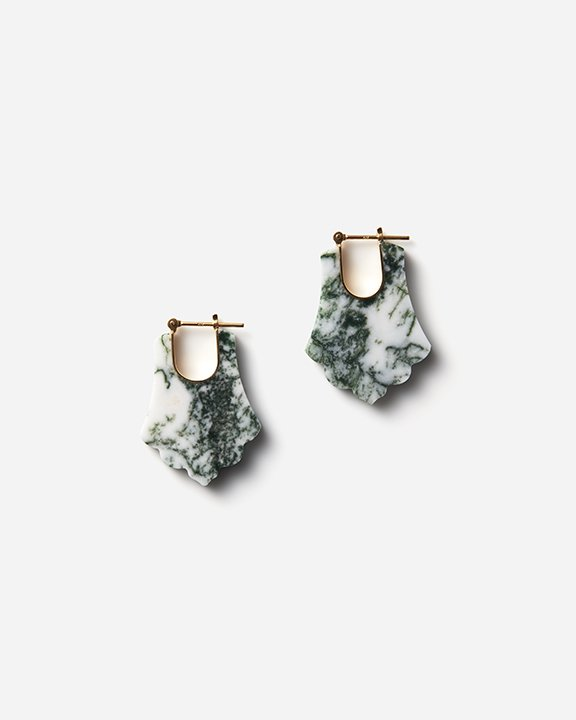 CREST / White Moss Agate