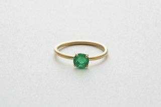 Emerald Facet Gem Ring