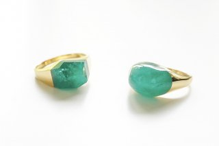 Emerald Rock Ring