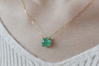 Cabochon Emerald Top Necklace