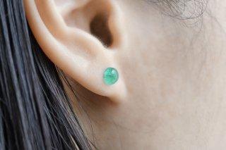 Cabochon Emerald Earring(Single)