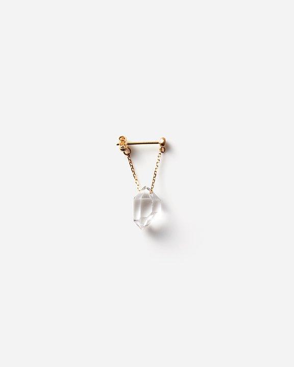 Herkimer Diamond Quartz Pierce S Chain/Short(single)