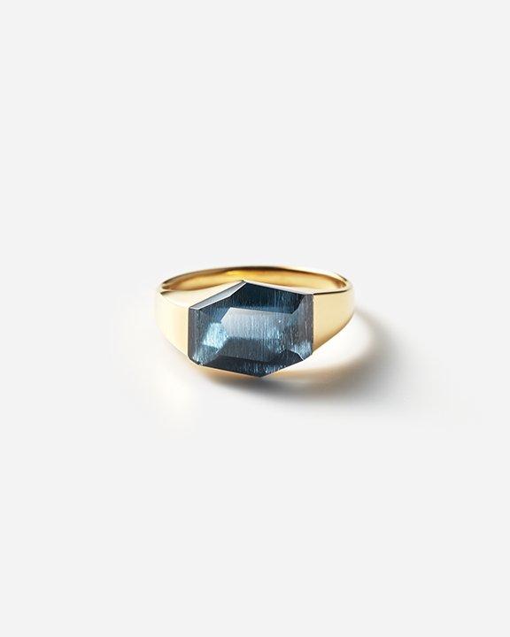 London Blue Topaz Rock Ring