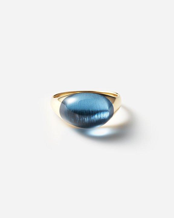 Blue Topaz Rock Ring