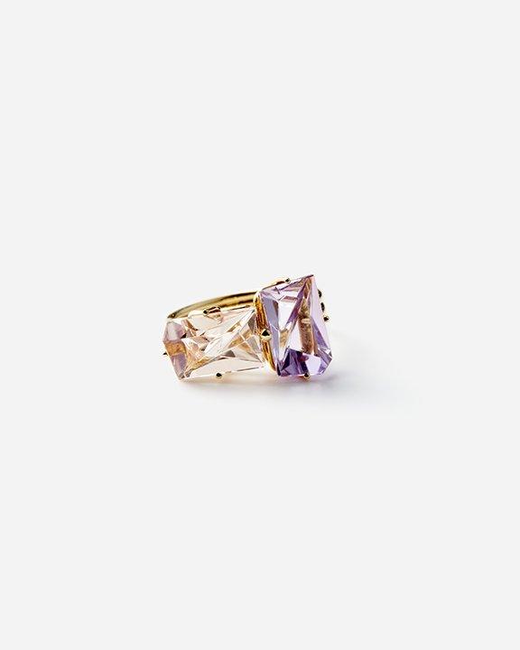 KLAR Morganite,Amethyst Ring