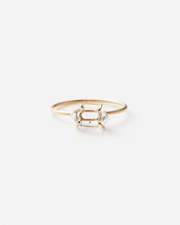 Diamond Quartz Gem Ring A