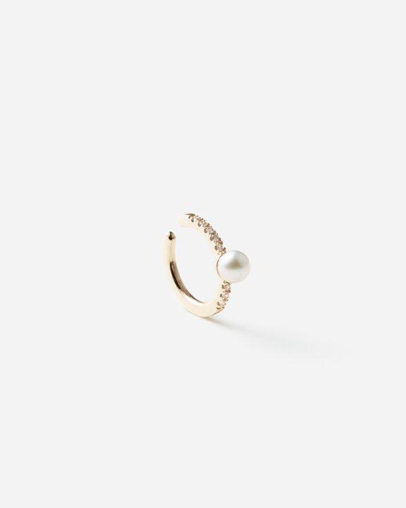 Akoya Pearl Diamond Ear Cuff S