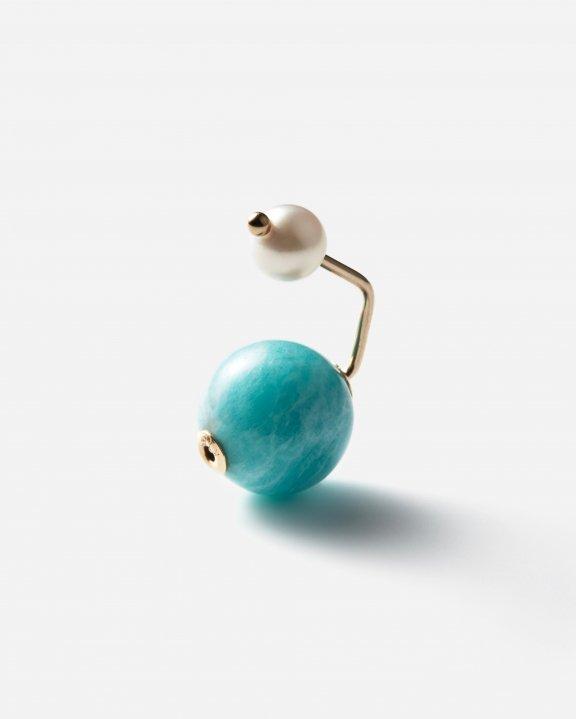 IBIZA Amazonite Pearl Earring