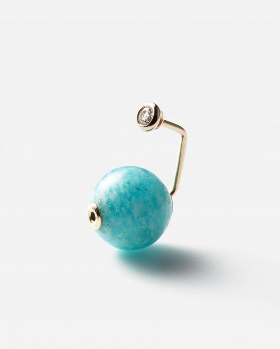 IBIZA Amazonite Diamond Earring