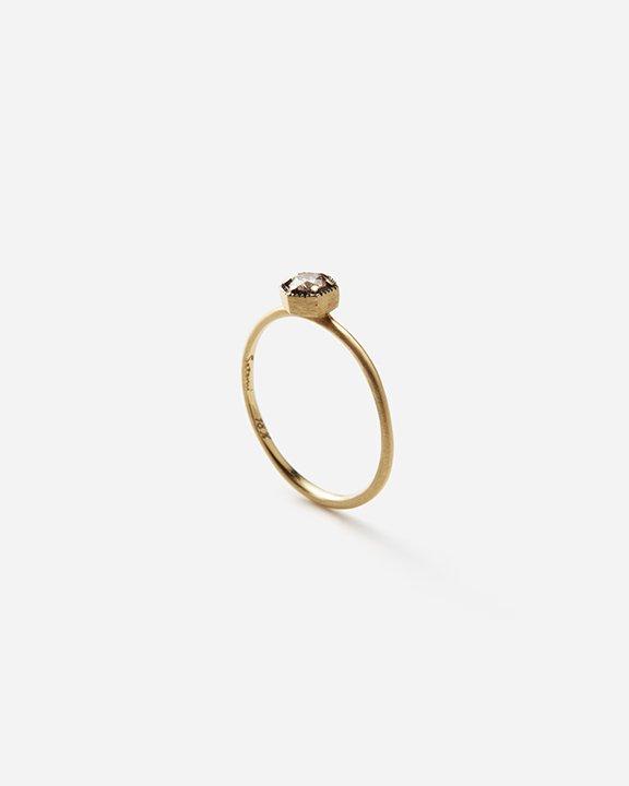 3.5mm BROWN Diamond Hexagon Ring   ダイヤモンド リング【10/1 fri.〜10 sun. 期間限定受注会】