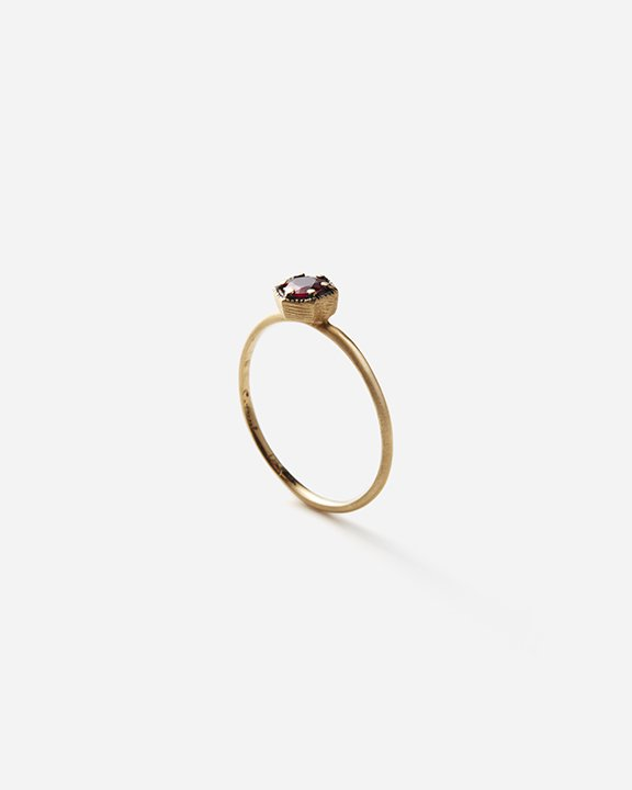 4mm Ruby Hexagon Ring | ルビー リング【10/1 fri.〜10 sun. 期間限定受注会】