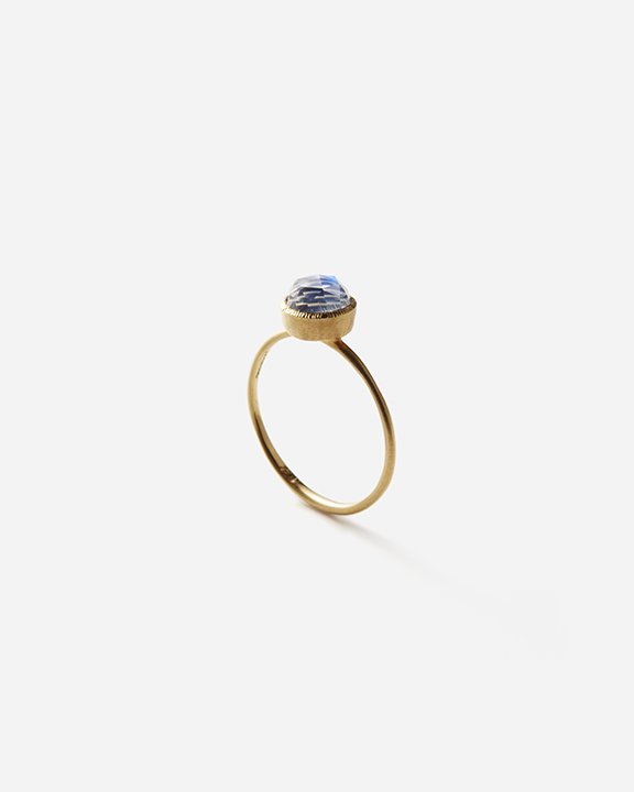 6mm Rainbow Moonstone Solitaire Ring | ムーンストーン リング【10/1 fri.〜10 sun. 期間限定受注会】