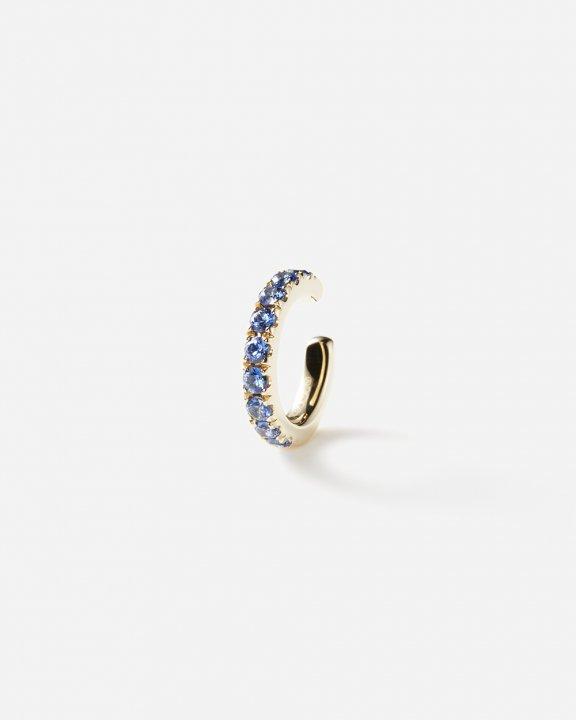 Orb Earcuff medium with blue sapphires | サファイア イヤーカフ