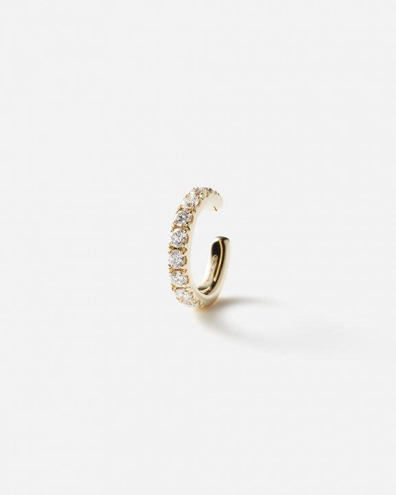 Orb Earcuff medium with diamonds