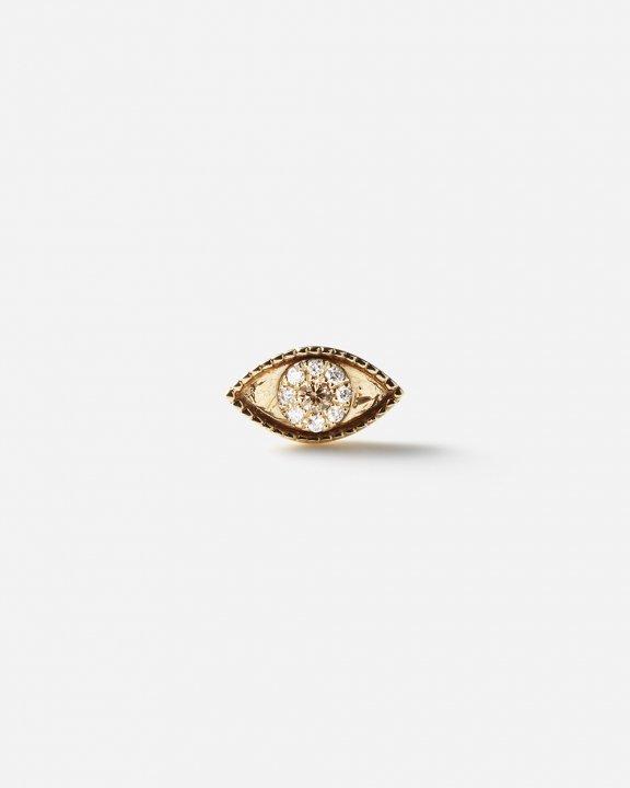 -STUD CLUB-Third Eye Stud with brown and white diamonds