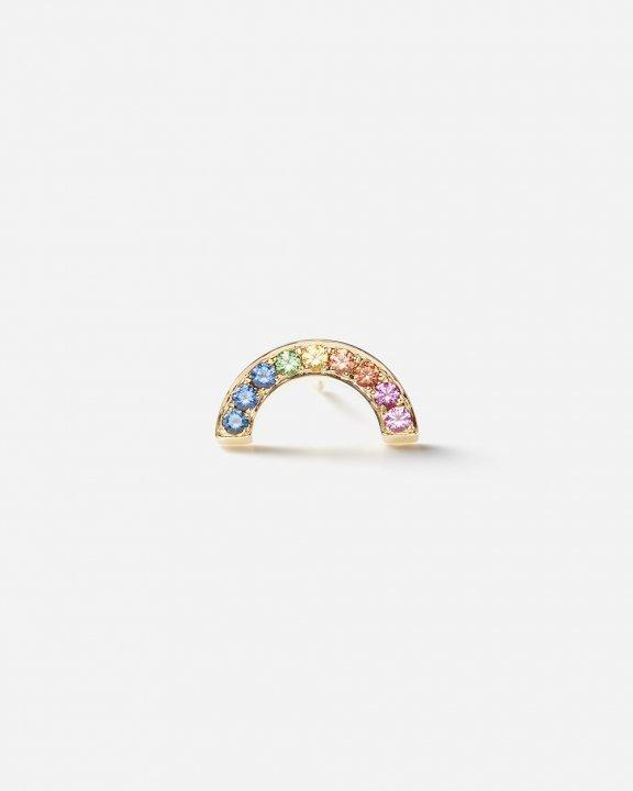 -STUD CLUB- Rainbow Stud with rainbow sapphires and tsavorites