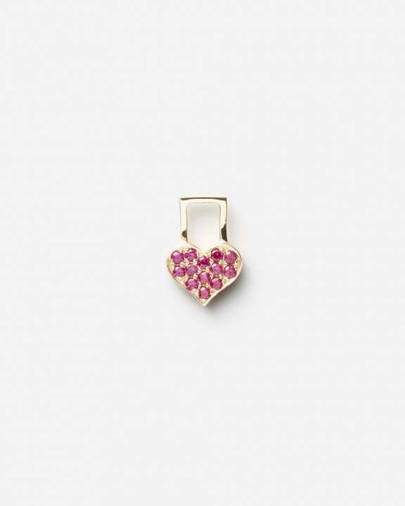 Baby Heart EarWish with rubies | ルビー チャーム