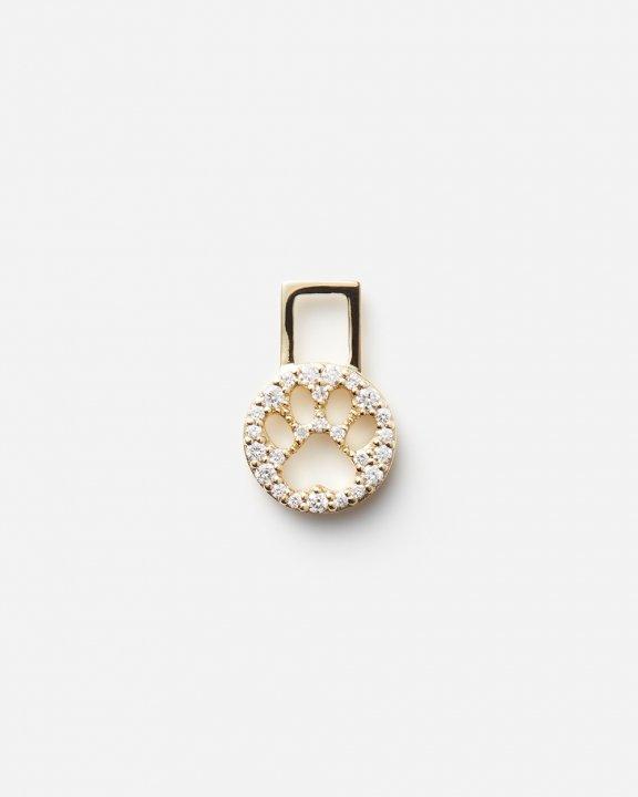 Pawprint EarWish set with diamonds