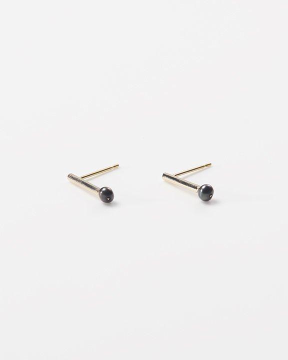 SEN-bud Black pearl | ブラックパールピアス