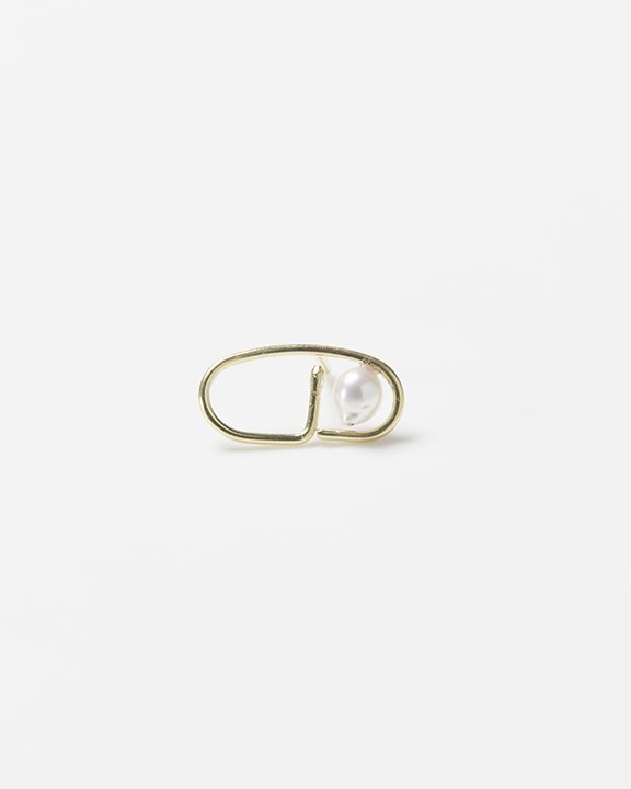 LINE chain earring(single) | アコヤパール ピアス<img class='new_mark_img2' src='https://img.shop-pro.jp/img/new/icons8.gif' style='border:none;display:inline;margin:0px;padding:0px;width:auto;' />