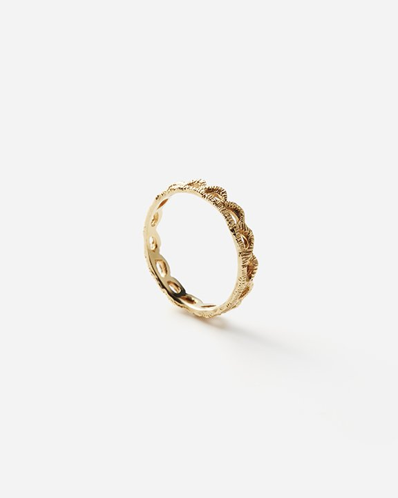 Lace Scallop Ring   ゴールド リング【10/1 fri.〜10 sun. 期間限定受注会】<img class='new_mark_img2' src='https://img.shop-pro.jp/img/new/icons8.gif' style='border:none;display:inline;margin:0px;padding:0px;width:auto;' />