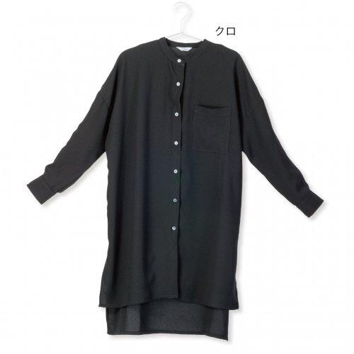 22012アシンメトリー ロングシャツ