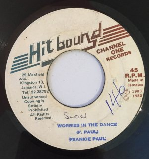 FRANKIE PAUL - WORRIES IN THE DANCE