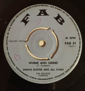PRINCE BUSTER - WHINE AND GRIND