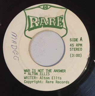 ALTON ELLIS - WAR IS NOT THE ANSWER<img class='new_mark_img2' src='https://img.shop-pro.jp/img/new/icons25.gif' style='border:none;display:inline;margin:0px;padding:0px;width:auto;' />
