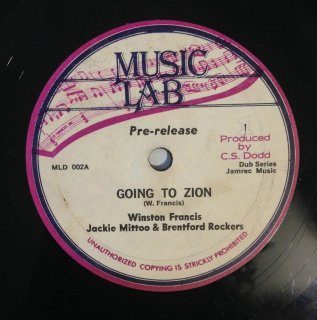 WINSTON FRANCIS & JACKIE MITTOO - GOING TO ZION