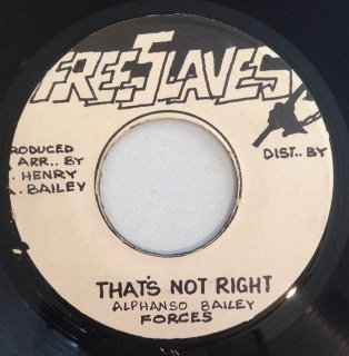FORCES - THAT'S NOT RIGHT