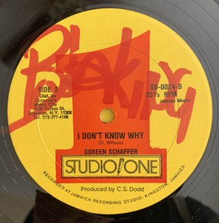 DOREEN SCHAFFER - I DON'T KNOW WHY