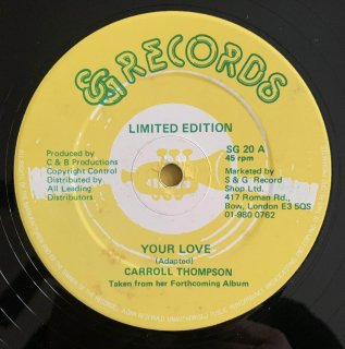 CARROL THMPSON - YOUR LOVE