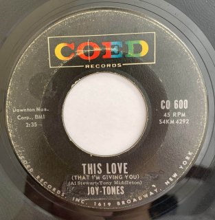 JOY TONES - THIS LOVE