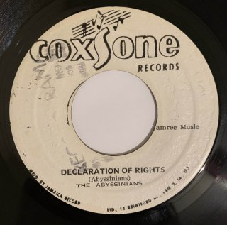 ABYSSINIANS - DECLARATION OF RIGHTS
