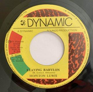 HOPETON LEWIS - LEAVING BABYLON
