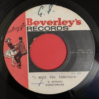 KINGSTONIANS - I NEED YOU TOMORROW