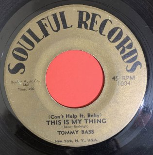 TOMMY BASS - THIS IS MY THING
