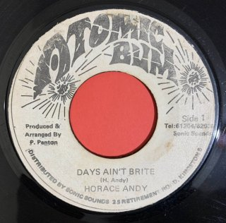 HORACE ANDY - DAYS AIN'T BRITE