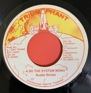 RUDDY SIMBAL - A SO THE SYSTEM WORK
