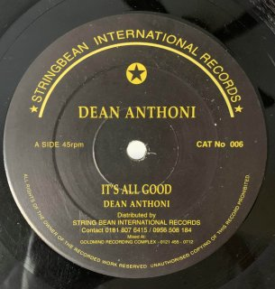 DEAN ANTHONI - IT'S ALL GOOD