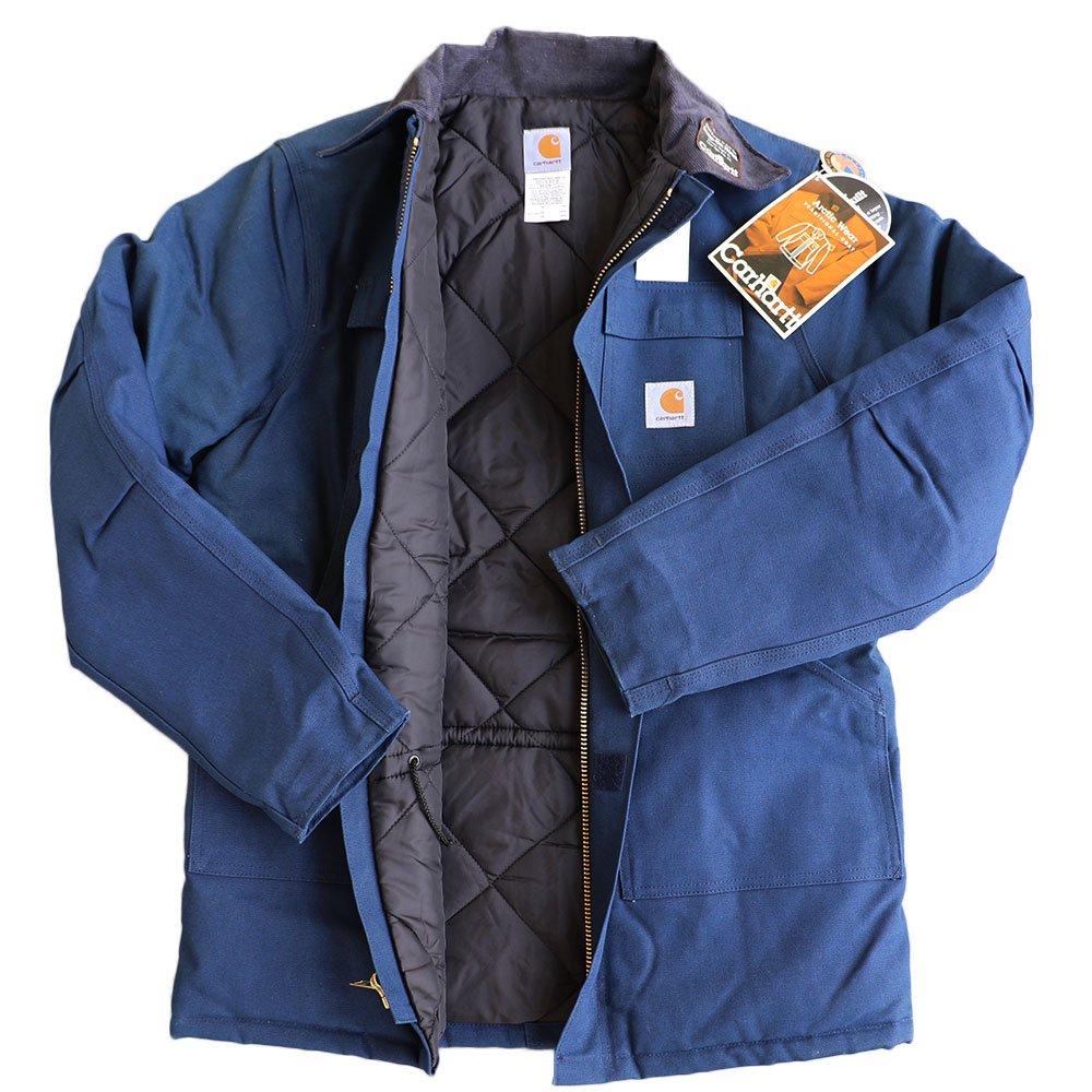 w-means(ダブルミーンズ) Cahartt Arctic Wear / TRADITIONAL COAT  アメリカ製 100%コットン 表記 40 Tall  紺 (デットストック) 詳細画像1