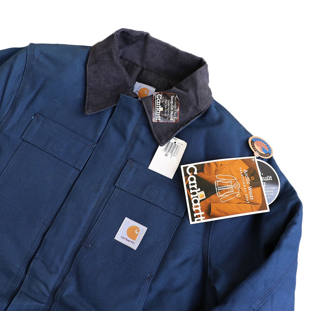 w-means(ダブルミーンズ) Cahartt Arctic Wear / TRADITIONAL COAT  アメリカ製 100%コットン 表記 40 Tall  紺 (デットストック) 詳細画像4