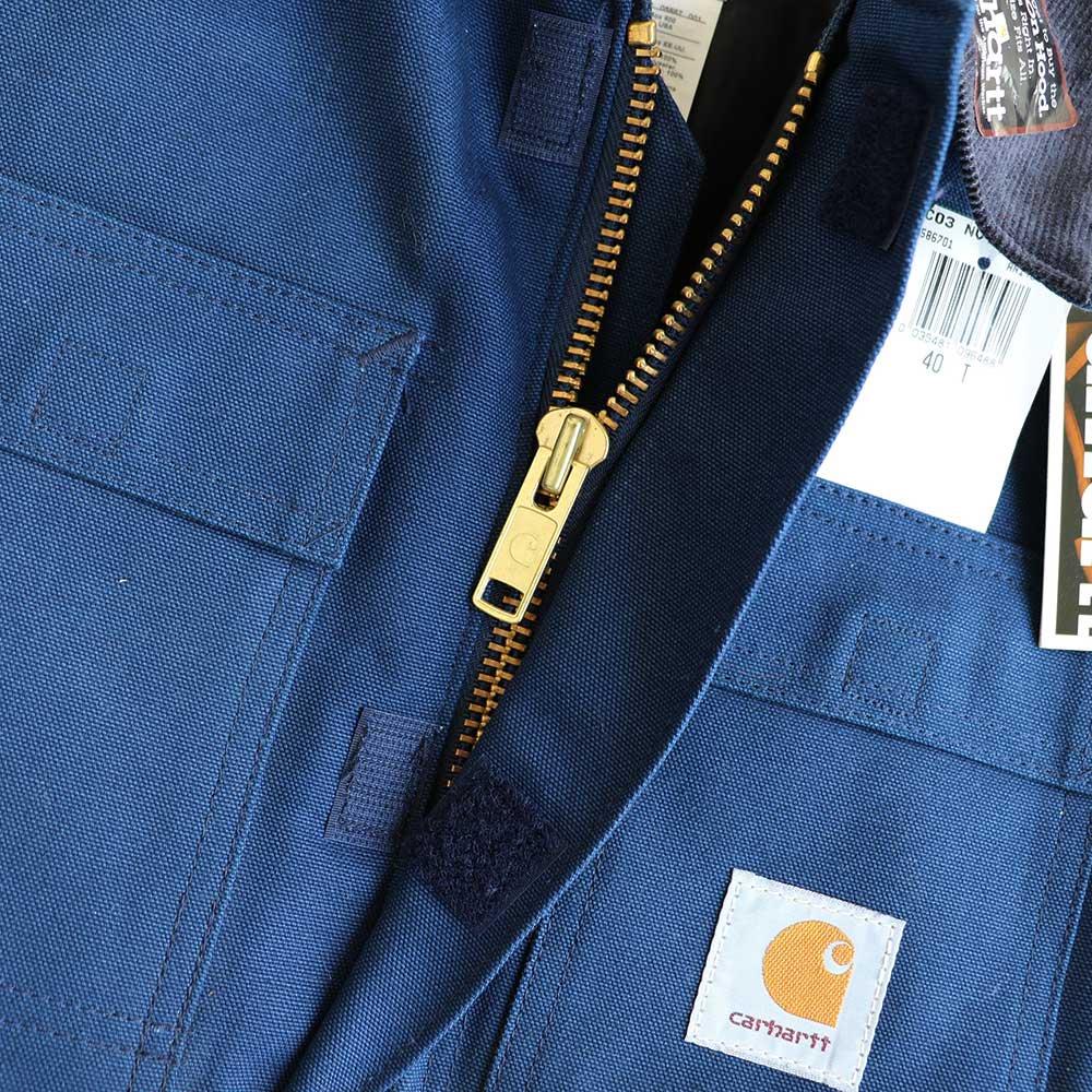 w-means(ダブルミーンズ) Cahartt Arctic Wear / TRADITIONAL COAT  アメリカ製 100%コットン 表記 40 Tall  紺 (デットストック) 詳細画像5