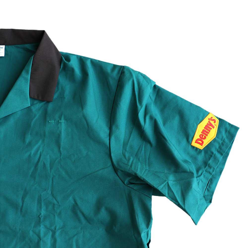 w-means(ダブルミーンズ) Denny's  半袖シャツ  表記 XL  深緑×くろ 詳細画像6