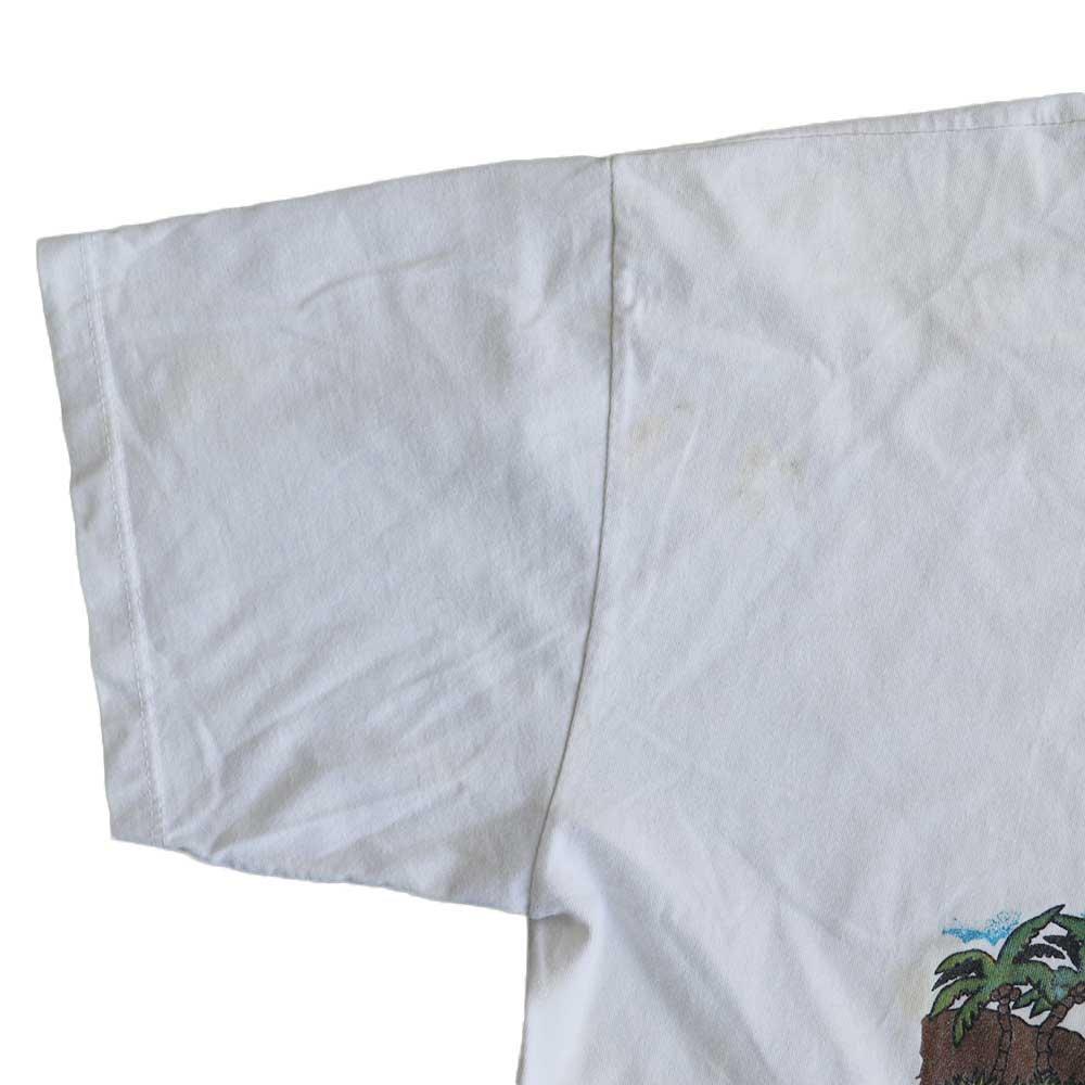w-means(ダブルミーンズ) THE HAPPY FISHERMAN 半袖Tシャツ メキシコ製 表記xL しろ 詳細画像6