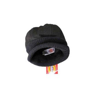 Dickies 100%コットン ツバ付きニット帽  表記S/M  クロ