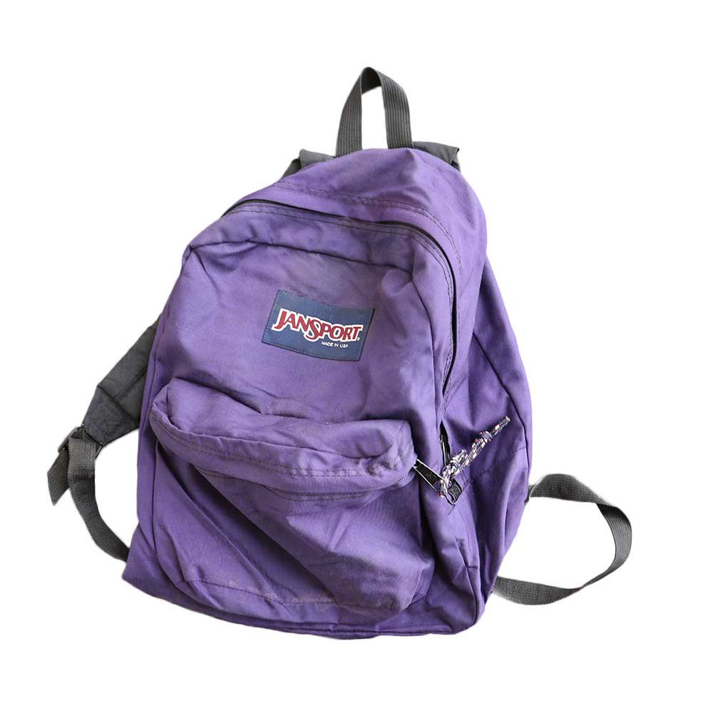 w-means(ダブルミーンズ) JANSPORT ナイロンバックパック(アメリカ製) 濃紫色 詳細画像